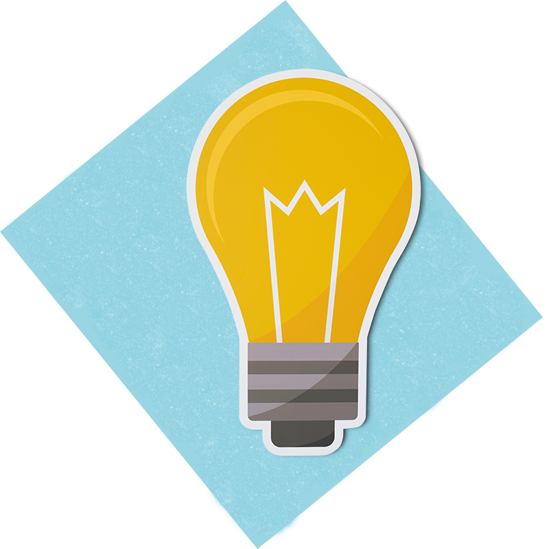 bulb on square